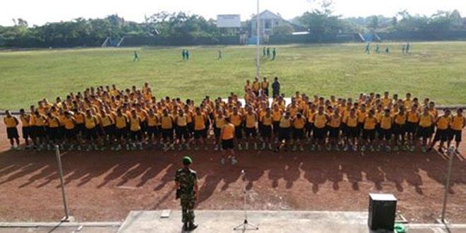 Jam Komandan Anggota Kodim 0728/Wonogiri Dilaksanakan di Stadion Pringgodani