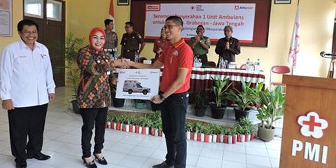 asdim 0717/Purwodadi Menghadiri Penyerahan  Ambulance Untuk PMI Kab. Grobogan