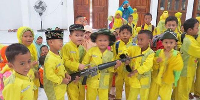 Kunjungan TKIT Islamic Centre ke Kodim 0717/Purwodadi