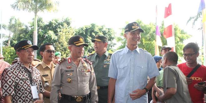 Pangdam IV/Dip, Gubernur Jawa Tengah dan Kapolda Jawa Tengah Pantau Pilkada Brebes
