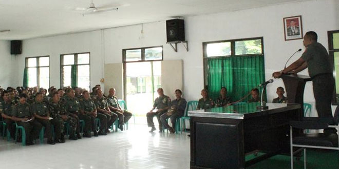 Dandim Beri Pengarahan Kepada Prajurit dan PNS Kodim 0734/Yogyakarta