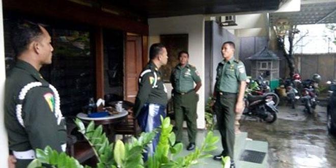 Danramil 03/Serengan Surakarta Mengadakan Pengecekan ke Batik Dwi Hadi
