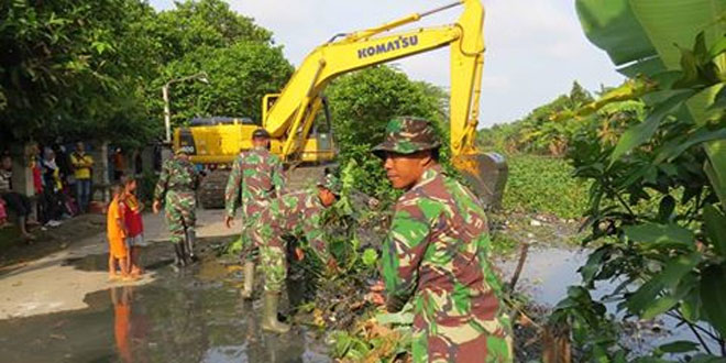 Aksi Nyata Kodim 0716/Demak Gelar Bersih Sungai