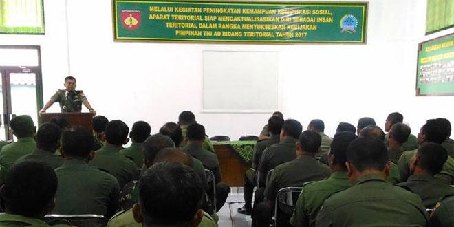 Dandim 0732/Sleman Buka Kegiatan Pembinaan Komsos Bagi Prajurit