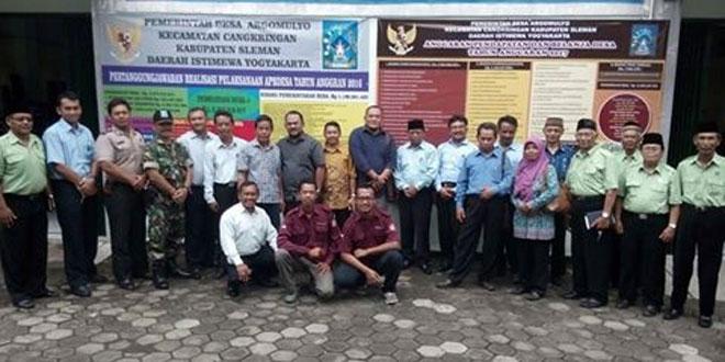 Babinsa Argomulyo Cangkringan Dampingi Kunker Rombongan Komisi III DPRD Bangka Belitung