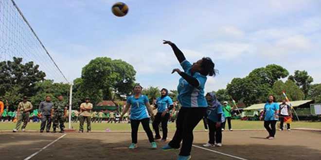Persit Kulon Progo Ikuti Lomba Volley