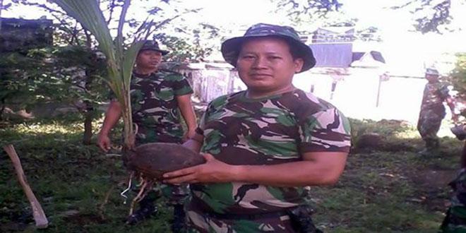 Anggota Koramil 04/Danurejan Melaksanakan Penghijauan