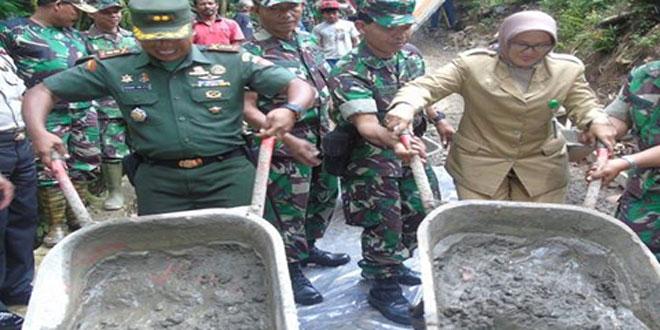 Komandan Kodim Kulon Progo Membuka Karya Bhakti Madigondo