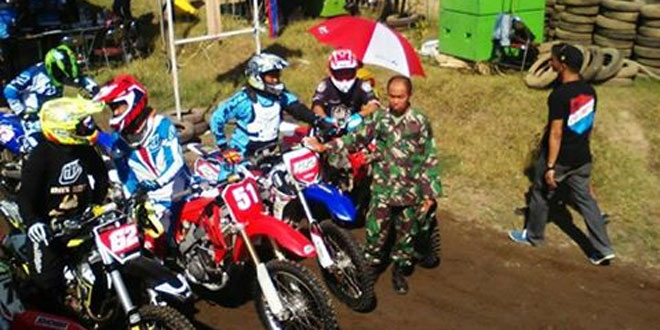 Koramil 04/Tempel Dukung Kejurnas National Motocross Championship Seri I