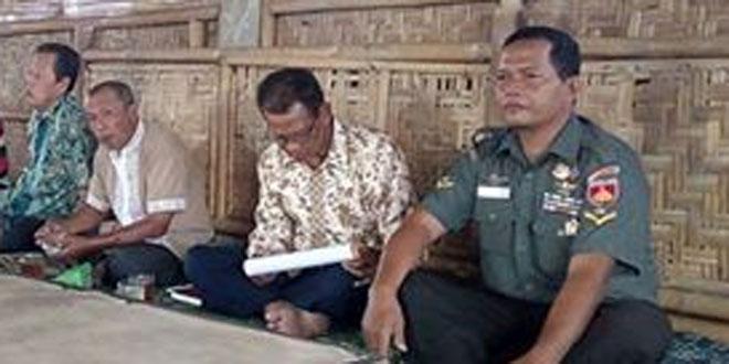 Babinsa Koramil 07/Ngemplak Hadiri Pertemuan Gapoktan Bimo Makmur
