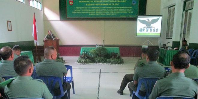 Dengan Kemampuan Komunikasi Sosial Aparat Teritorial Siap Sukseskan Kebijakan Pimpinan TNI
