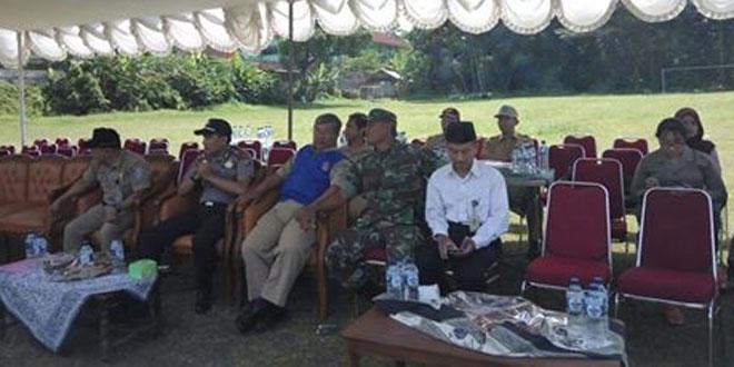 Danramil dan Babinsa Argomulyo Cangkringan Sukseskan Gladi Lapang Sekolah Siaga Bencana