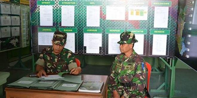 Kodim 0713/Brebes Menerima Kunjungan Tim Wasev Korem 071/Wijaya Kusuma