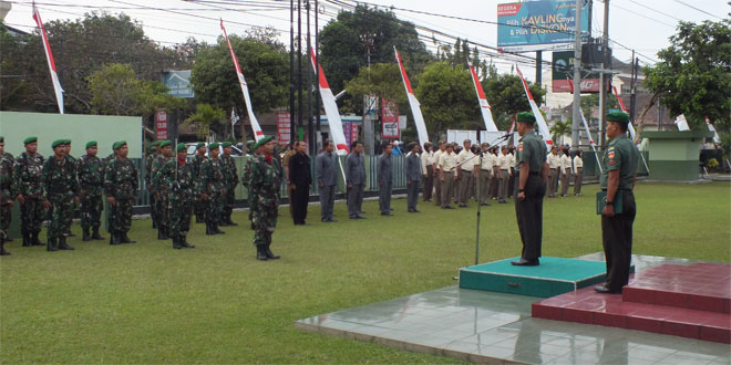 Kodim 0734/Yogyakarta Gelar Upacara Bendera