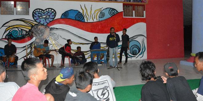 Kodim 0713/Brebes Ramaikan Kreasi Dan Nobar Anak Jalanan