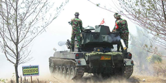 Batalyon Kavaleri 2/Turangga Ceta menggelar Latihan Menembak Senjata Ranpur (Latbakjatranpur)
