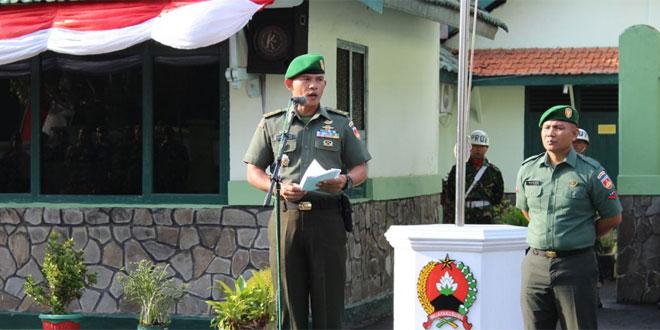 Amanat Pangdam IV/Diponegoro Pada Upacara Bendera 17an Kodim 0703/Cilacap