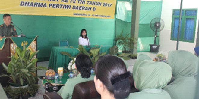 Jelang HUT TNI Ketua Persit Cabang L Kodim 0735/Surakarta Bersama Anggota Melaksanakan Iva Test