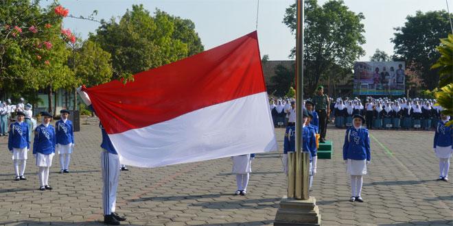 Upacara Bendera di SMAN 1 Mranggen Dipimpin Kasdim 0716/Demak