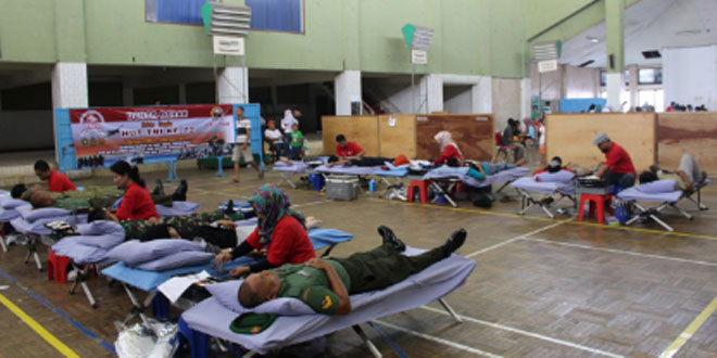 Kodim 0711/Pemalang Gelar Bakti Sosial Donor Darah Dalam Rangka HUT Ke 72 TNI Tahun 2017