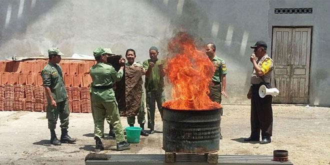 Babinsa Koramil 14/Minggir Sosialisasikan Penanggulangan Bencana Kebakaran