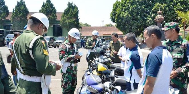 Dalam Rangka HUT Ke-72 TNI, Denpom IV/Dip Laksanakan Gaktib