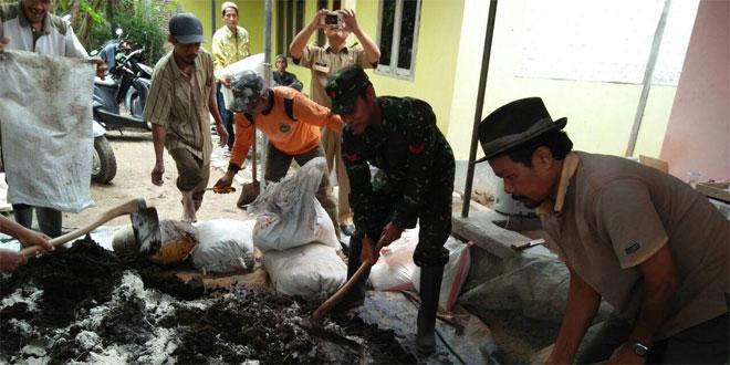 Babinsa Koramil 06/Kesugihan Bersama Poktan Tirto Wungu Tindak Lanjuti Pengendalian Hama Padi