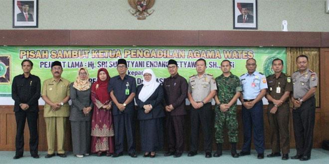 Kasdim Kulon Progo Hadiri Sertijab Ketua Pengadilan Agama Kulon Progo