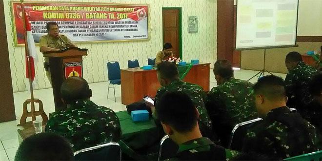 Kodim 0736/Batang Adakan Sosialisasi RTRW Untuk Hanrad