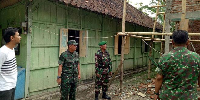 Dandim 0717/Purwodadi Adakan Pengecekan Rehab Bangunan di Koramil 14/Karangrayung