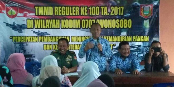 Melalui TMMD Reguler Ke 100 TNI Bina UMKM Pagerejo