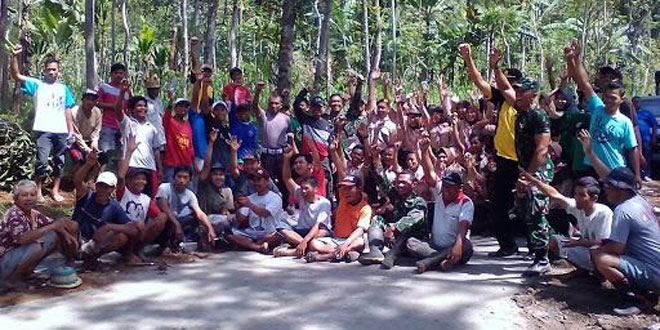 TMMD Sengkuyung Tahap III Di Wiilayah Kodim 0714/Salatiga Memperkuat Kebersamaan Dan Semangat Gotong Royong Yang Menjadi Ciri Khas Bangsa Indonesia