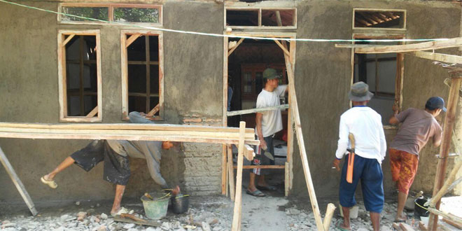 Plesterilisasi Rumah TMMD Brebes Selesaikan Rumah Kasto