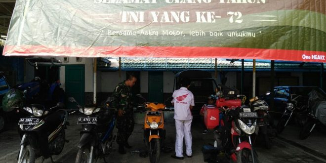 Kodim 0703/Cilacap Gelar Service Murah HUT TNI Ke – 72