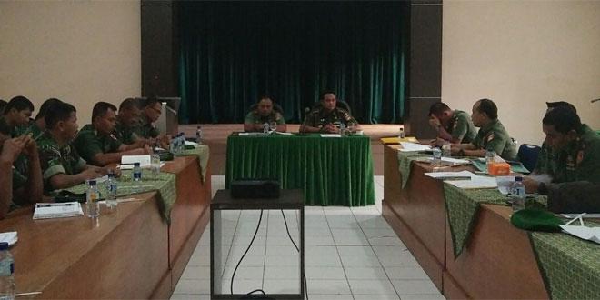 Kodim 0703/Cilacap Menerima Tim Dalprog Kodam IV/Diponegoro