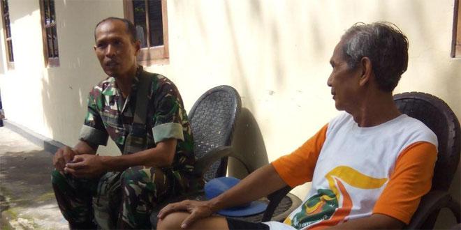 Babinsa Koramil 07/Umbulharjo Malaksanakan Komsos Bersama Warga