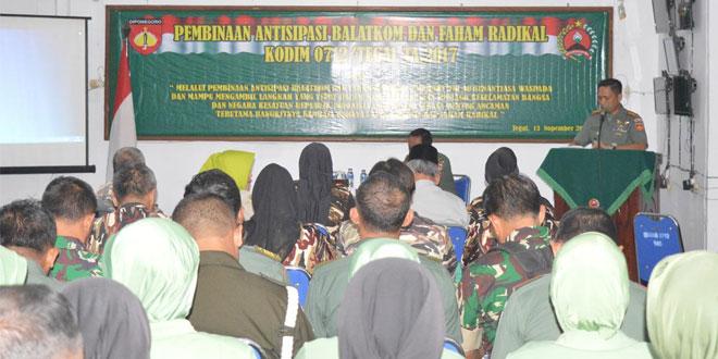 Kodim 0712/Tegal Gelar Sosialisasi Antisipasi Balatkom dan Faham Radikal