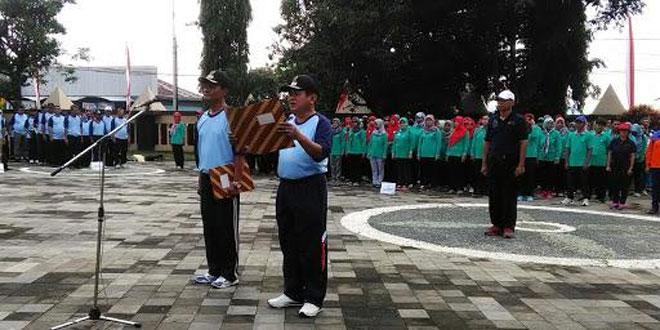 Danramil 09/Ambarawa Mengikuti Apel Besar Peringatan HUT Kesehatan Nasional di Monumen Palagan Ambarawa