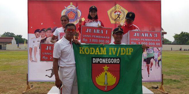 Kodam IV/Diponegoro Unggul Dengan 3 Emas