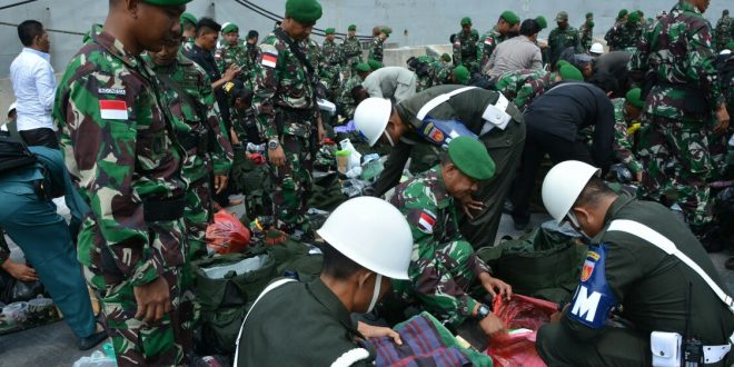Usai Melaksanakan Pamtas RI- Malaysia, Satgas Yonif 403/WP Kembali ke Homebase