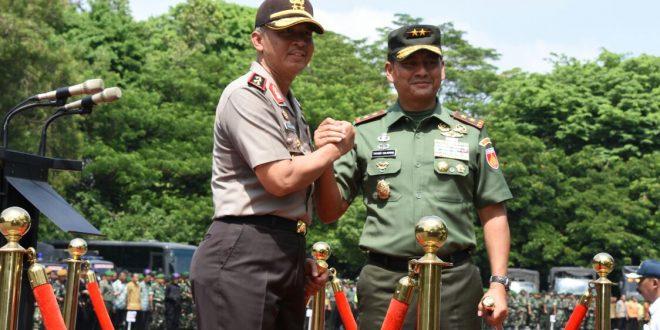 Pangdam IV dan Kapolda Jateng Pimpin Gelar Pasukan Pengamanan