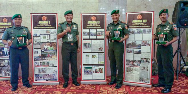 Dansatgas TMMD Kodam IV/Diponegoro Borong Juara