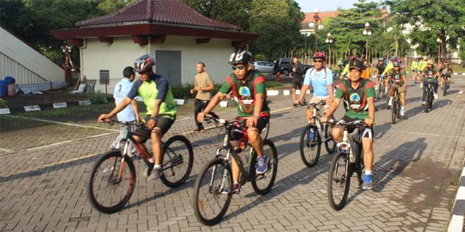 Gowes Bareng Kodim 0734/Yogyakarta Bersma Polresta Yogyakarta