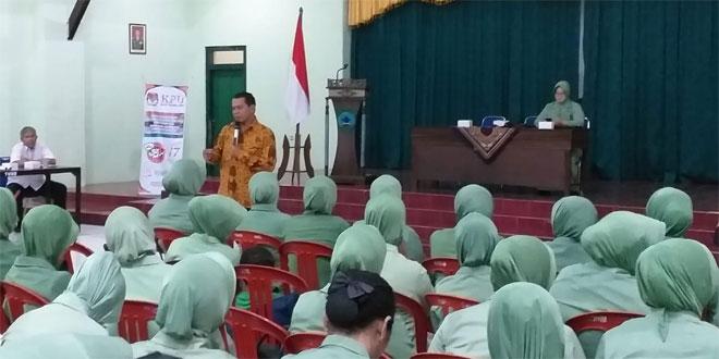 Mendekati Pemilu, Persit Kodim 0705/Magelang Mendapat Pengarahan dari KPUD Kabupaten Magelang