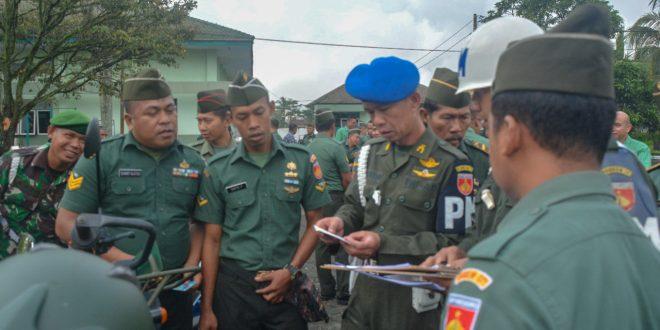 Operasi Gaktib dan Yusitisi, Denpom Purwokerto Sasar Kendaraan Dinas dan Pribadi
