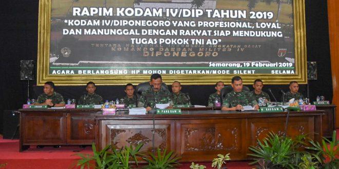 Mayjen TNI Mohamad Effendi : Wujudkan Kodam IV/Diponegoro Yang Profesiaonal, Loyal dan Manunggal Dengan Rakyat