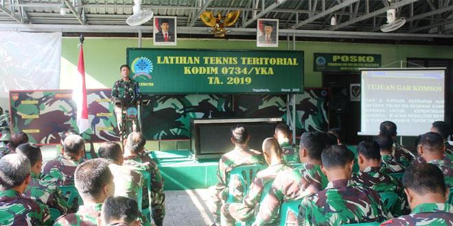 Tingkatkan Kualitas Prajurit, Kodim 0734/Yogyakarta Gelar Latnister