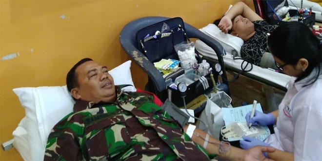 Anggota Koramil 05 Banguntapan Donor Darah