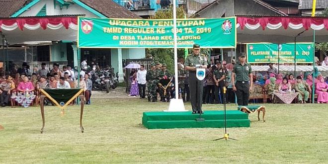 UPACARA PENUTUPAN TMMD REGULER KE 104 KODIM 0706/TEMANGGUNG TA 2019