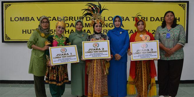 Meriahkan HUT ke 55, Dharma Pertiwi Daerah D Gelar Lomba Vokal Group dan Tari